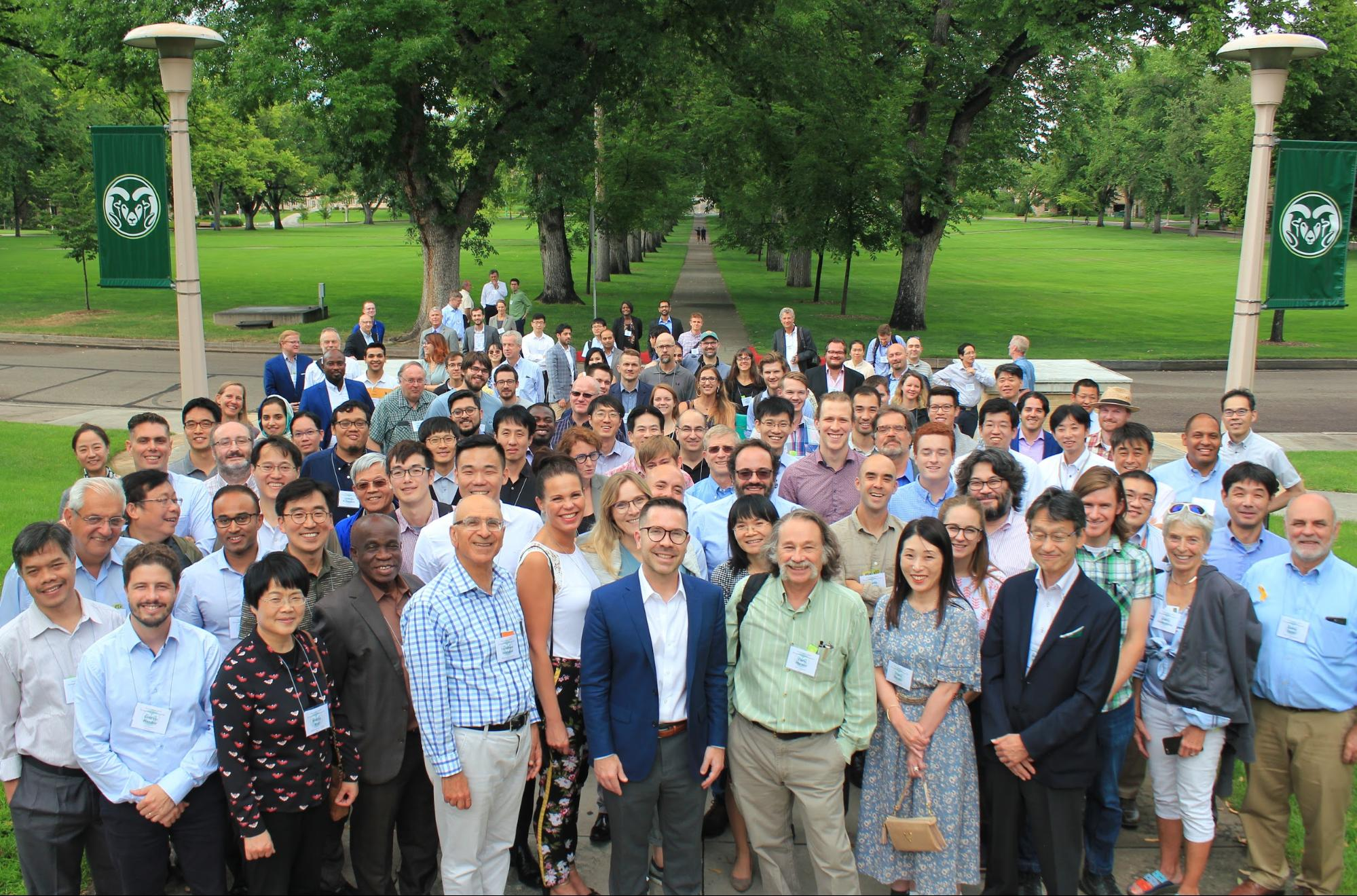 Group Photos with 134 researchers from 24 countries who participated in the Fort Collins 2019 Symposium on Microgrids